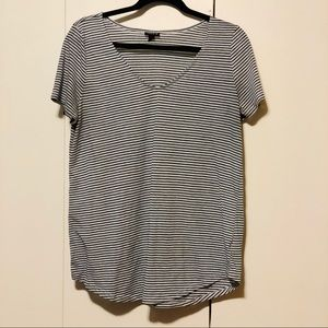 TORRID Striped V-Neck Tee
